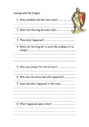 English Worksheets: george and the dragon