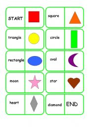shapes dominoes revise names of shapes with dominoes level elementary    Shapes Names For Kids