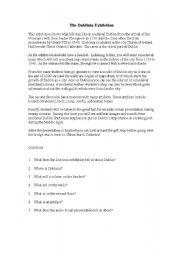 English Worksheets: Dublinia Comprehension Pre-Inter