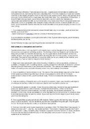 English Worksheets: Multiple Intelligences