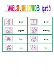 vowel sounds domino game 2/2