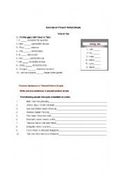 English worksheet: exercices