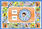 English Worksheet: ON THE FARM - BOARD GAME (PART 1)