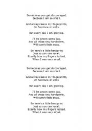 Mother´s Day Poem - ESL worksheet by swarner