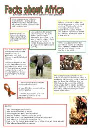 English Worksheets: Facts about Africa