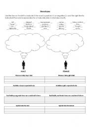 English Worksheet: Gender Stereotypes