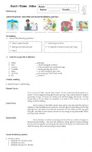 english teaching worksheets jobs. Black Bedroom Furniture Sets. Home Design Ideas