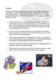 English Worksheets: fantasy presentation