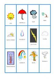 English teaching worksheets: Weather flashcards