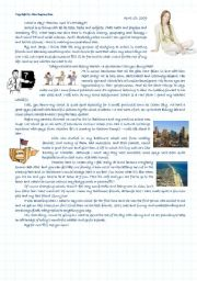 English Worksheets: Rachel�s diary - School