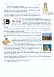 English Worksheet: Rachel�s diary - School