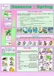 English Worksheet: SEASONS - SPRING (1 - 8)