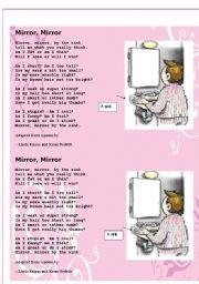 English Worksheet: poem Mirror