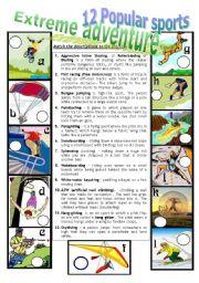 English worksheet: EXTREME ADVENTURE 2