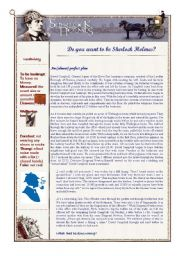 English Worksheet: Crime: Sherlock Holmes and Dr House ( 2nd part - idioms and exercises )