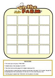 English Worksheet: ON THE FARM - BOARD GAME (PART 2)