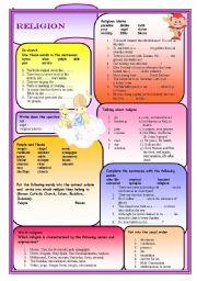 English Worksheets: Religion