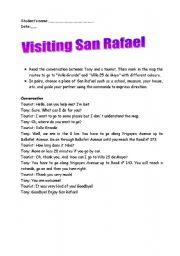 English Worksheet: Visiting San Rafael