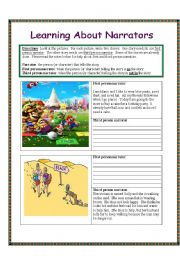 English Worksheets: Writing Stories: Learning about Narrators