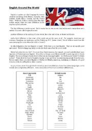 English Worksheets: BrE vs AmE