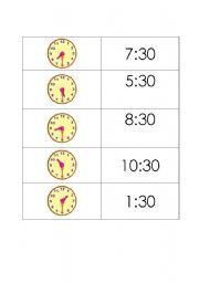 English worksheet: time memory