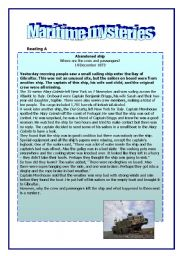 English Worksheets: Maritime Mysteries