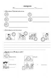 English Worksheets: Daily life