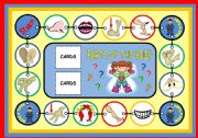 English Worksheet: PARTS OF THE BODY - BOARD GAME (PART 1)