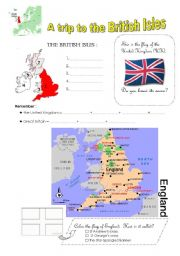English Worksheet: a trip to the BRITISH ISLES