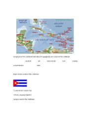 English Worksheets: The geography of the Carribean
