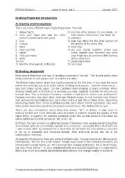 English Worksheets: Greetings and introduction