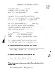 English Worksheets: -Song-