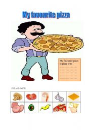 English Worksheet: food-My favourite pizza