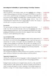 English worksheet: Proofreading Exercise_6 (key)
