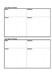 Printables Vocabulary Worksheet Template english worksheets 4square vocabulary template worksheet template