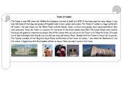 English Worksheet: Tower of London - information sheet