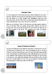 English Worksheet: information sheet about Buckingham Palace