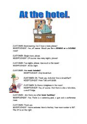 At a hotel role play - ESL worksheet by susoramos