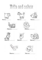 English Worksheets: The animals 2