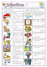 English Worksheets: Adjectives 2