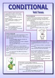 English Worksheet: CONDITIONALS - (6 pages)