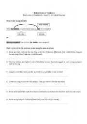 English Worksheet: Lord of the Rings _ participial clauses