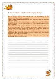 English Worksheets: Improving Writing Skills