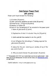 English Worksheet: Job/Career Power Point
