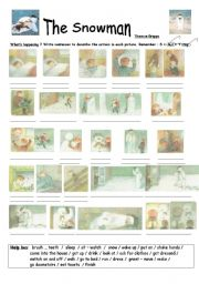 English Worksheet: The Snowman story (Raymond Briggs)