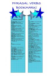 English Worksheet: Bookmarks - Phrasal Verb - 2nd Part