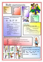 English Worksheets: Body movements