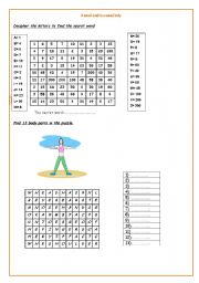 English Worksheets: A sound mind in a sound body