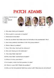 English Worksheets: Patch Adams Video activity