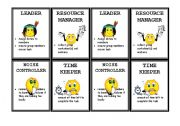 English Worksheets: Cooperative learning Duty cards